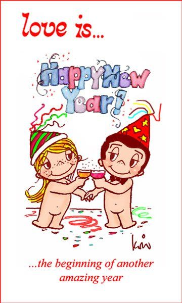 Happy New Year 2018 Cartoons Wishes