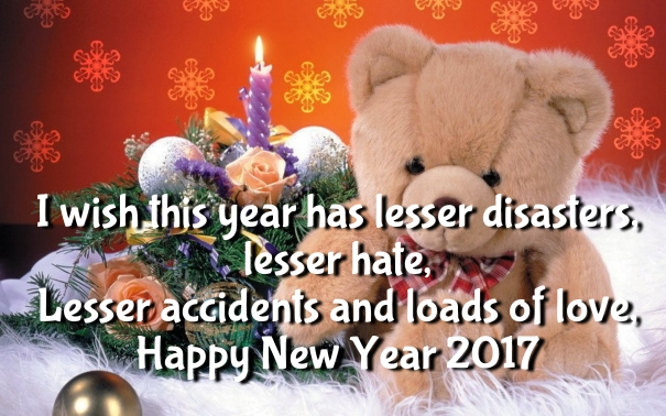 New Year 2017 Teddy Bear Wallpapers Quotes and Images