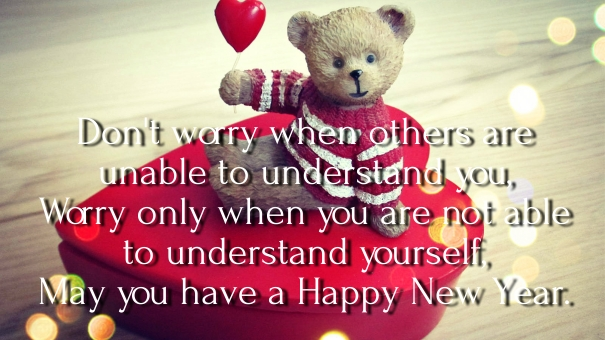 New Year Teddy Bear Wallpapers Quotes 2017