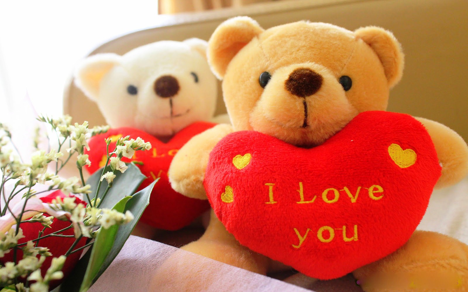 download teddy bear wallpaper I love you