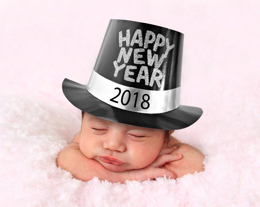 40 cute baby happy new year 2018 pics (small babies images) - happy