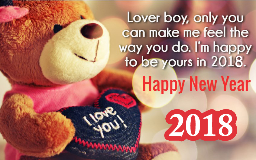 Happy New Year 2018 Love Message