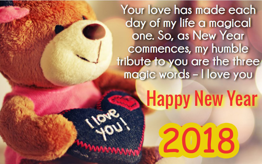 Happy New Year 2018 Wishes For Boyfriend