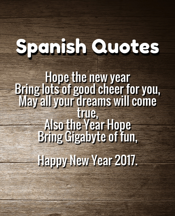 happy new-year quotes in Spanish 2017