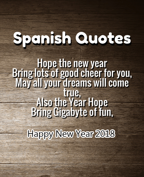 Happy New Year Quotes In Spanish 2018