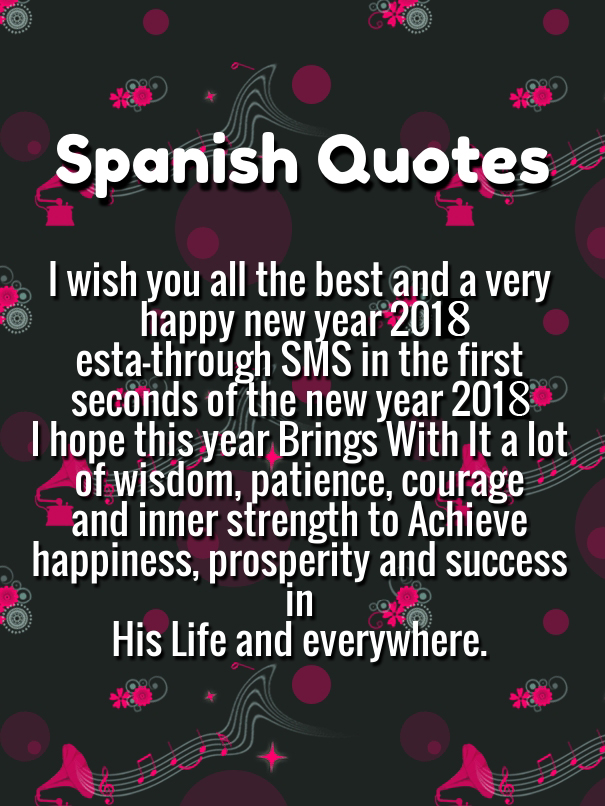 Spanish New Year Quotes 2018