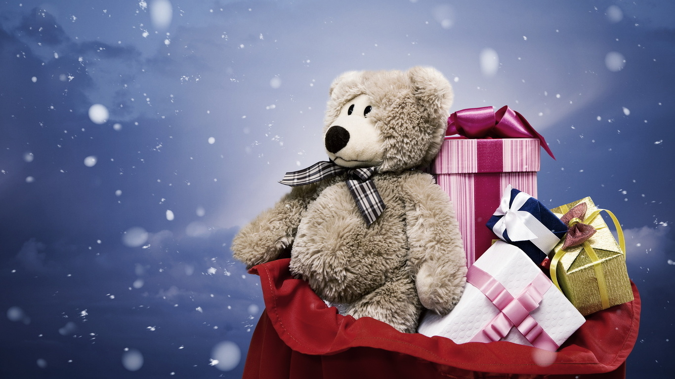 teddy bear hd wallpaper new year gift