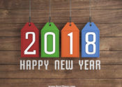 2018 Happy New Year Background Image 3D Colorful