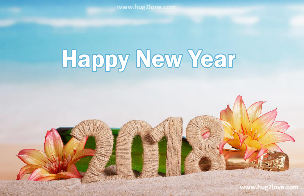 best new year 2018 hd image beach side