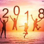 Happy New Year Background Image 2018 Sunset View