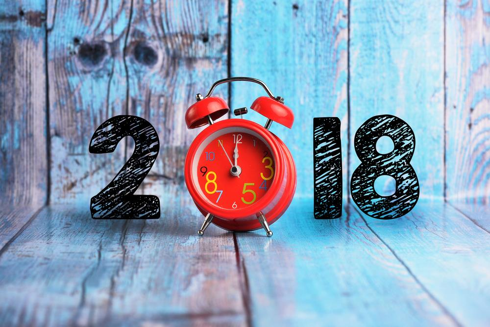 New Year 2018 Background Image Clock Countdown