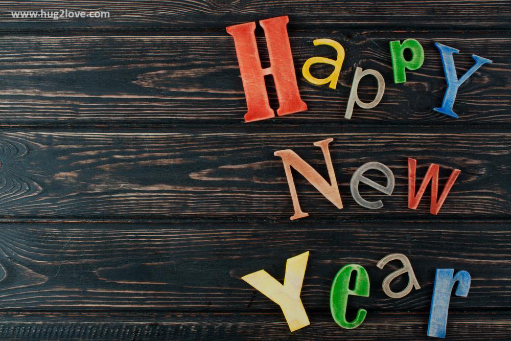 Wooden Style New Year 2018 Background Image