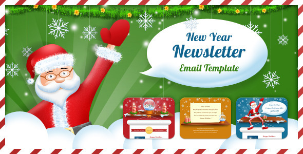 Happy New Year Christmas Email Templates 2019 Downloadables