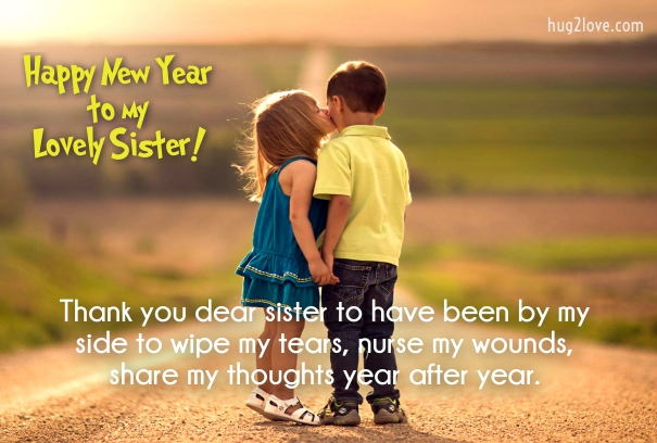 cute 2019 sister new year sms images
