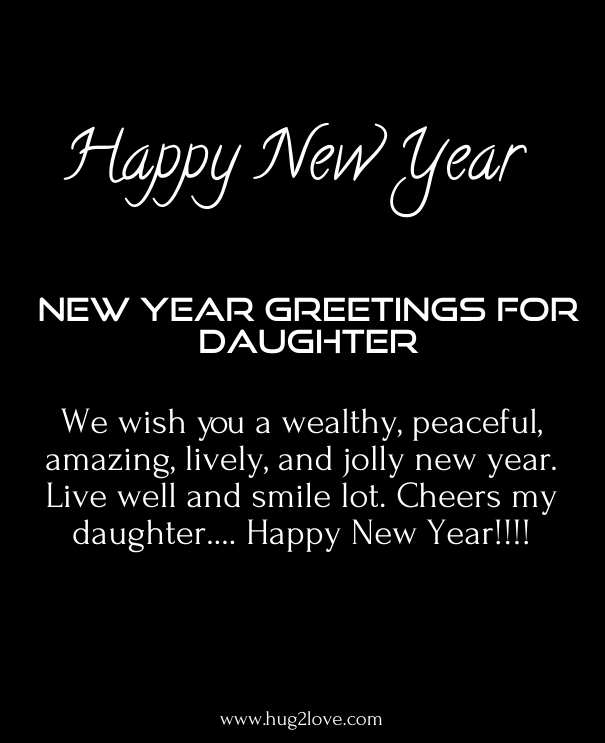 happy new year 2017 daughter