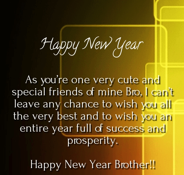 happy new year to my brother