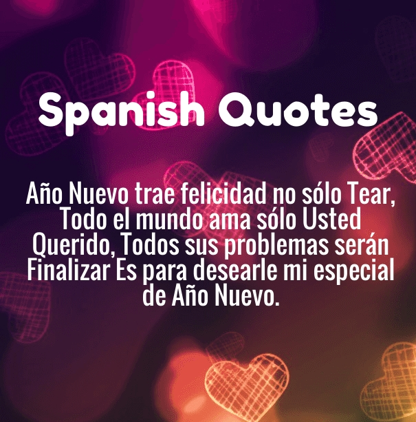 Happy New Year Quotes In Spanish 2019 With English Translations