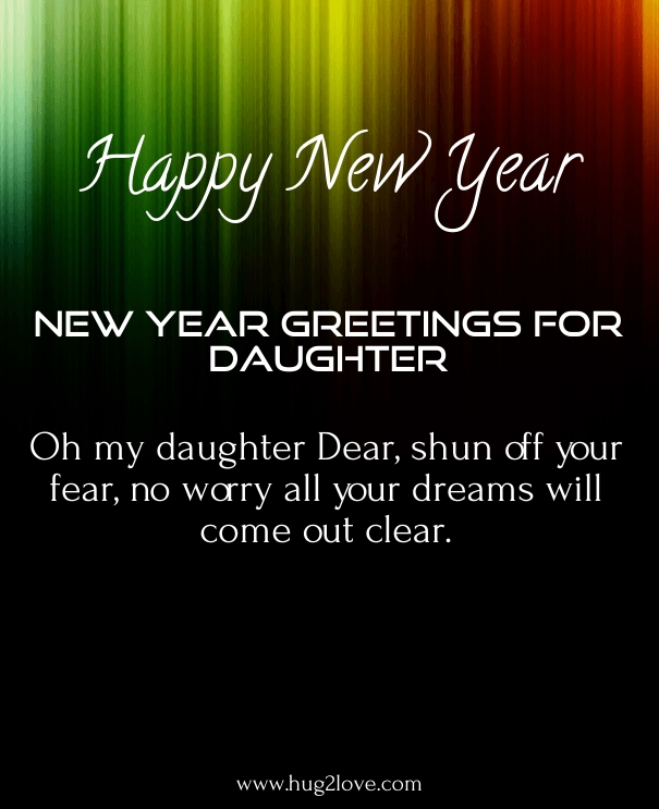 happy new year wishes for my daughter 2019