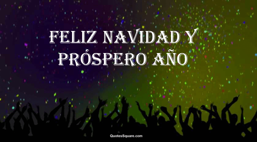 merry christmas and happy new year in spanish