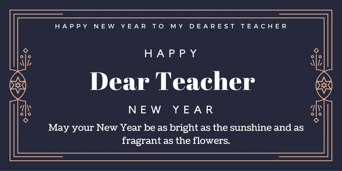 new year 2018 wishes for best teacher
