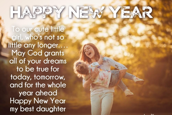 new year sms for daughter