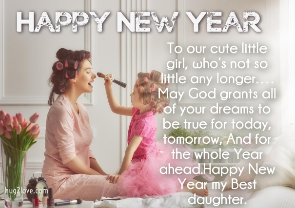 new year wishes for daughter to mom