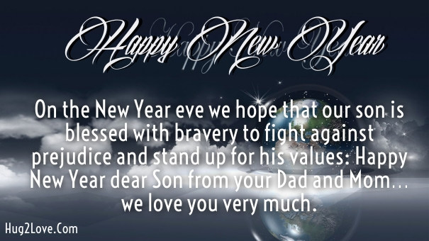 memorable wishes for son from parents to greet new year 2019
