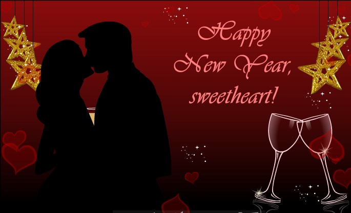 new year 2019 love romantic e cards to wish her