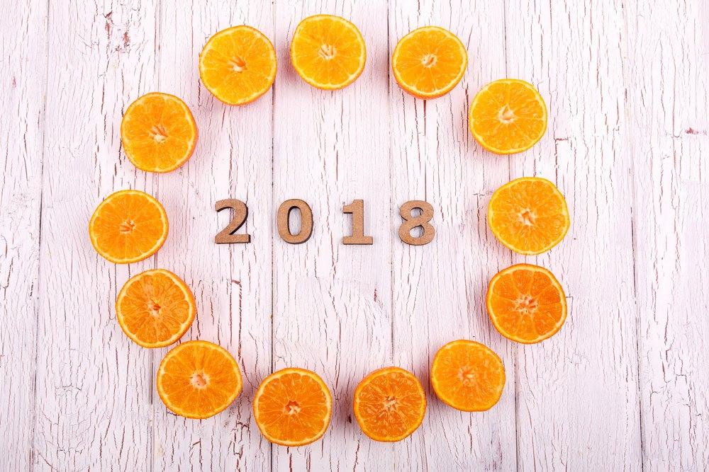 Happy New Year Orange 25