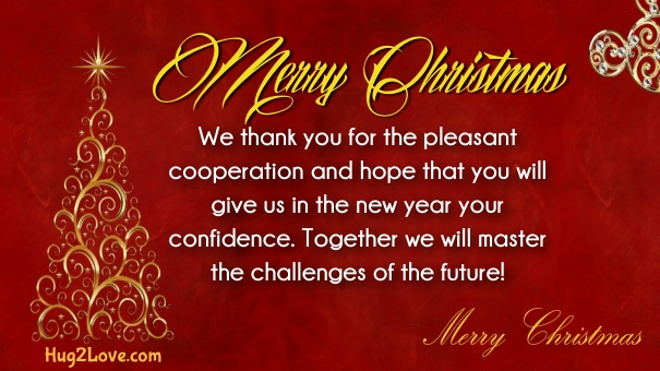 christmas message for boss