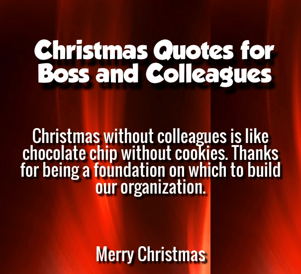 christmas message to colleagues