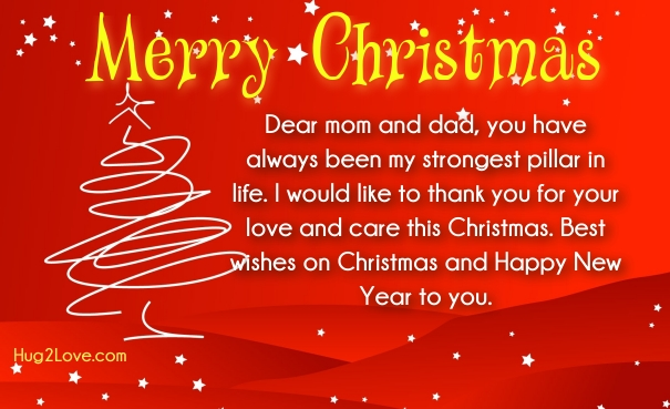 christmas messages for parents in law