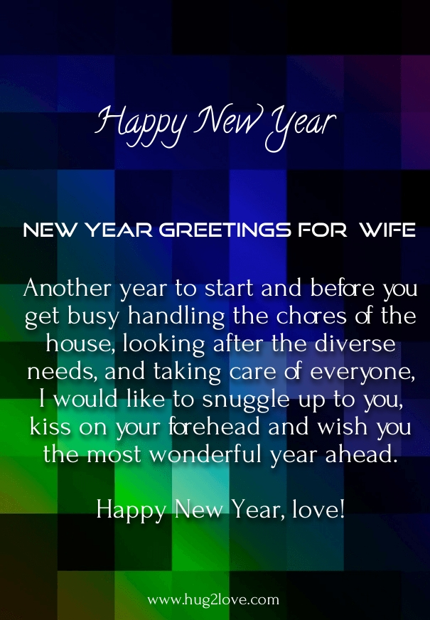 happy new year to my wife