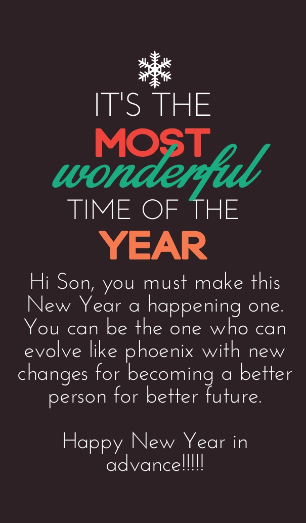 New Year Quotes: 30 Happy New Year 2021 Wishes Quotes For Son