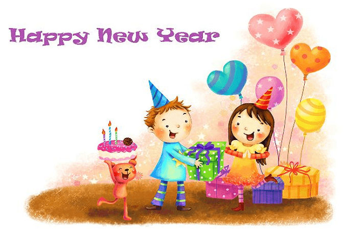 30 Happy New Year 2019 Cute Cartoon Pictures For Kids Happy New