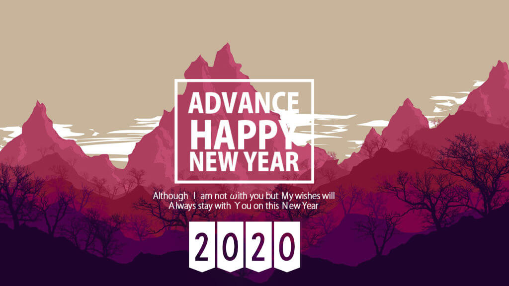 25 Advance Happy New Year 2020 Quotes Wishes with Images - Happy