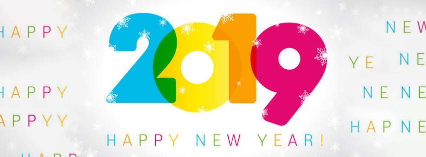 new year 2019 colorful facebook cover banner