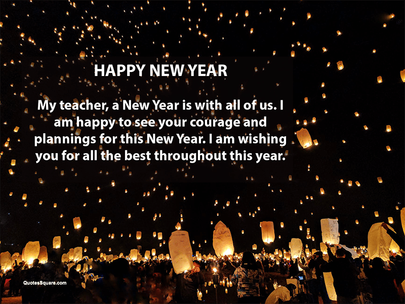 new year greetings for teachers professors mentors