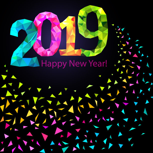 best happy new year pics 2019 to wish in unique style  for gift vector ai gift vector hand drawn