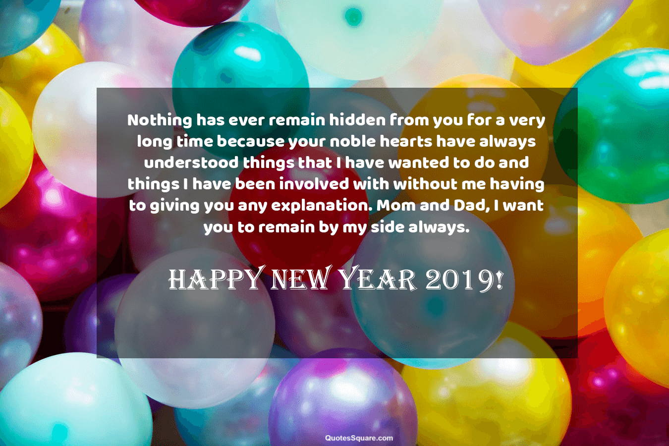 parents 2019 new year wishes mom dad