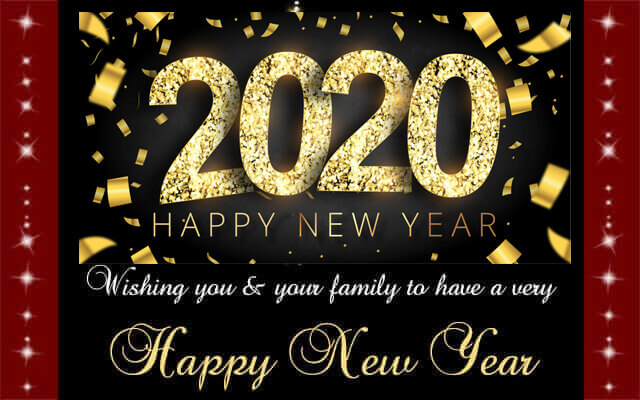 Happy New Year Greeting Card 30