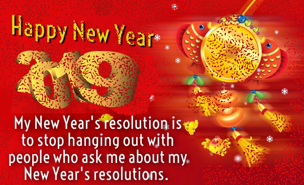 Funny New Year Resolution