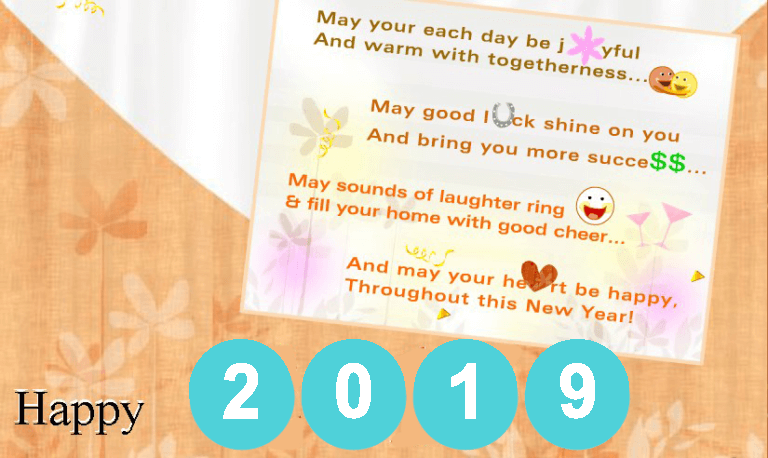 happy new year 2019 greeting card wishes