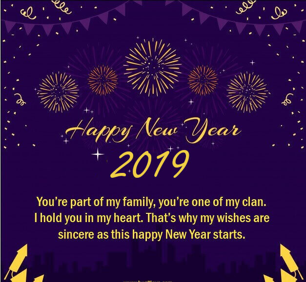 happy new year romantic quote 2019 image
