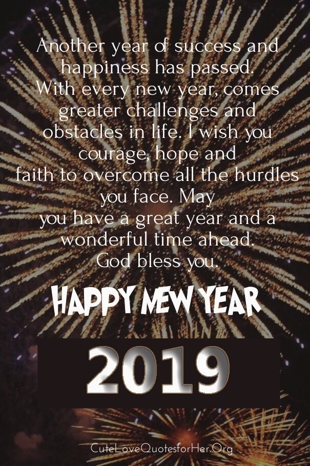 Image of: Happy New Year 2019 Love Quote Wishes Quotes Square 40 Happy New Year 2019 Wishes For Husband With Love From Wife pics