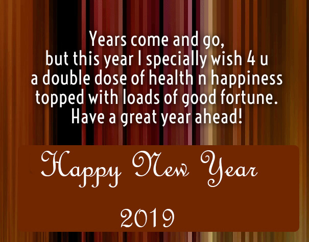 happy new year greetings 2019
