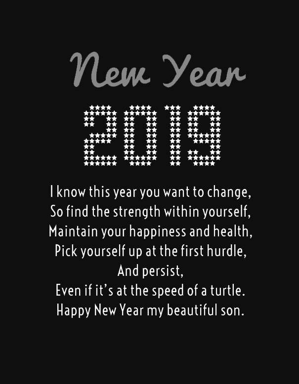 new year 2019 messages for son