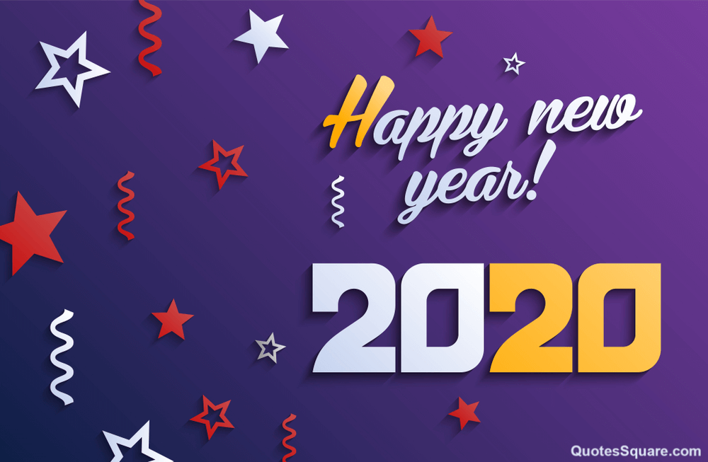 New Year 2020 Purple Lover Wallpaper - Happy New Year 2020