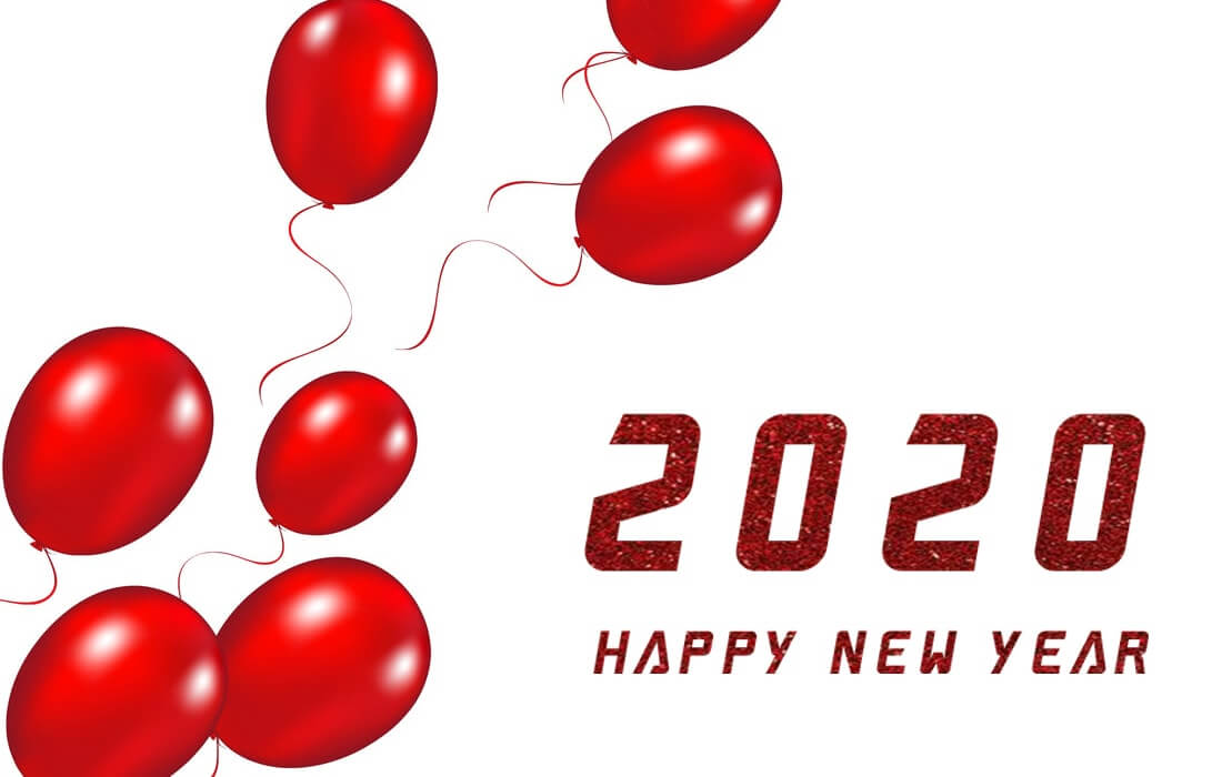 Red Romantic New Year 2020 Wallpaper - Happy New Year 2020