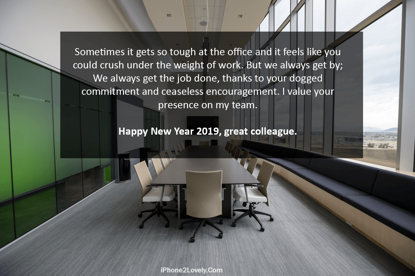 new year 2019 wishes for collegues and team members from boss